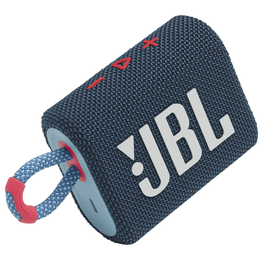JBL GO 3 - Blue / Pink - Portable Waterproof Speaker - Detailshot 1