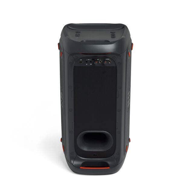 China:- - Black - Powerful portable Bluetooth party speaker with dynamic light show - Back