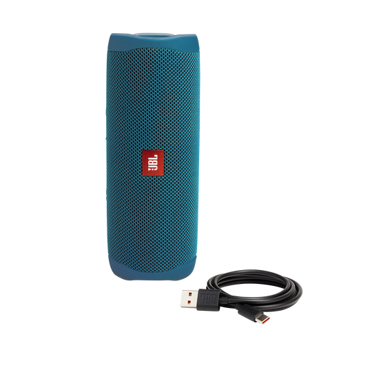 JBL Flip 5 Eco edition - Ocean Blue - Portable Speaker - Eco edition - Detailshot 2