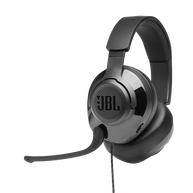 JBL Quantum 200 - Black - Wired over-ear gaming headset with flip-up mic - Hero