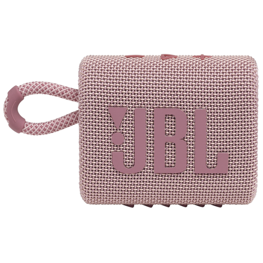 JBL GO 3 - Pink - Portable Waterproof Speaker - Front