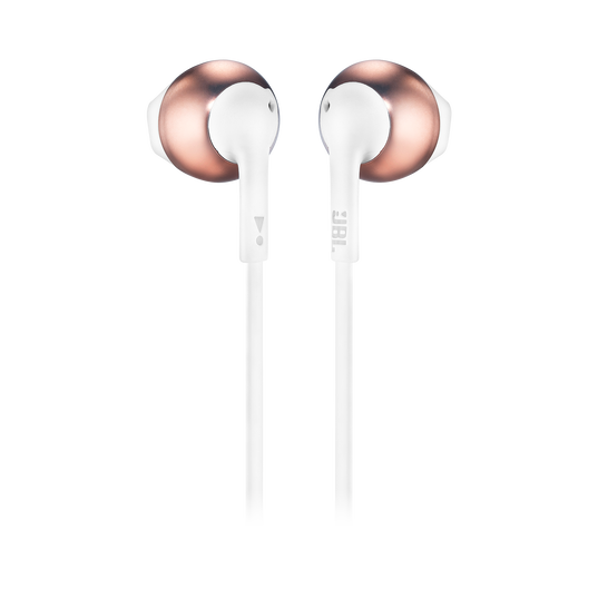JBL TUNE 205BT - Rose Gold - Wireless Earbud headphones - Back