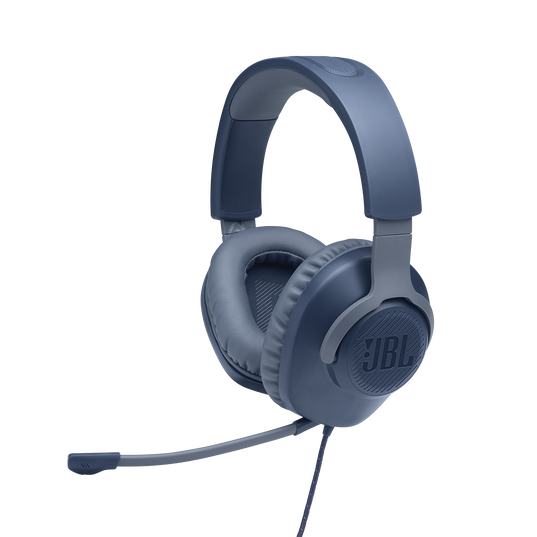 JBL Quantum 100 - Blue - Wired over-ear gaming headset with a detachable mic - Detailshot 1