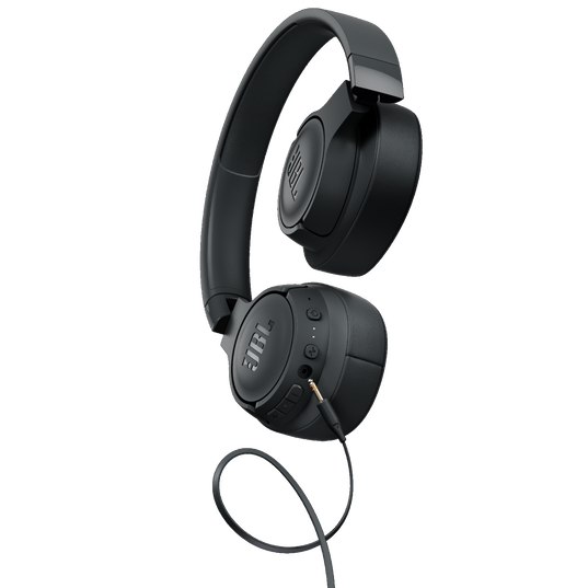 JBL TUNE 750BTNC - Black - Wireless Over-Ear ANC Headphones - Detailshot 7