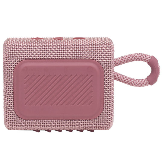 JBL GO 3 - Pink - Portable Waterproof Speaker - Back