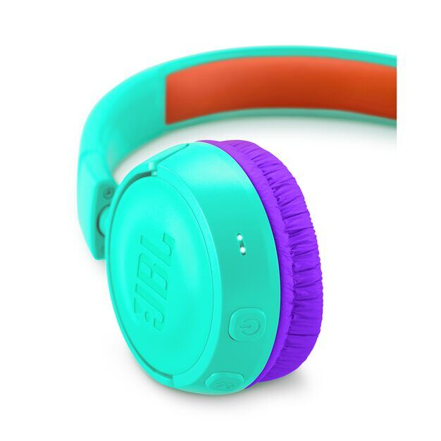 JBL JR300BT - Tropic Teal - Kids Wireless on-ear headphones - Detailshot 2