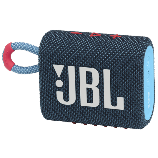 JBL GO 3 - Blue / Pink - Portable Waterproof Speaker - Hero