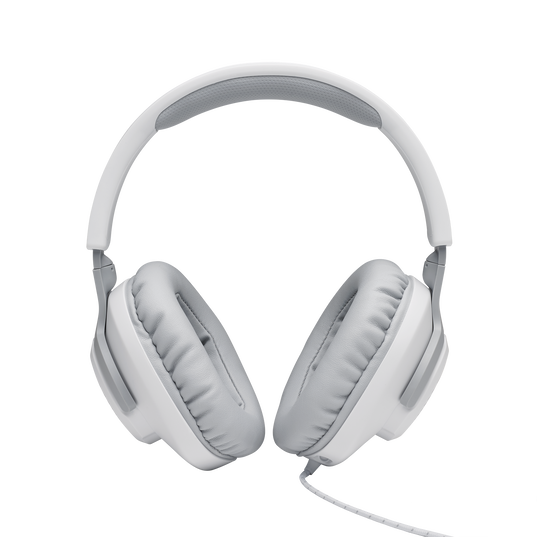 JBL Quantum 100 - White - Wired over-ear gaming headset with a detachable mic - Detailshot 2