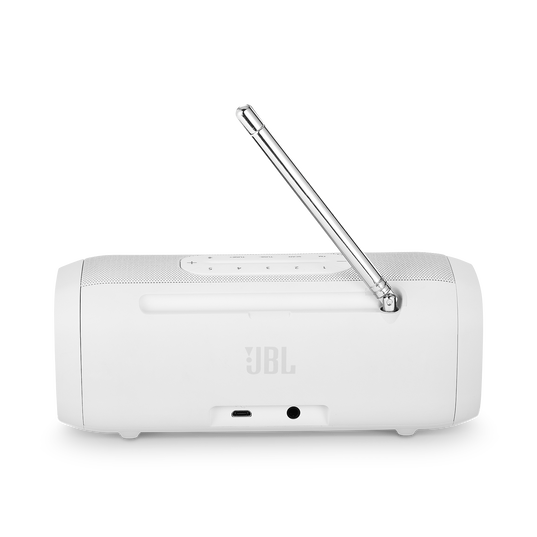 JBL Tuner - White - Portable Bluetooth Speaker with DAB/FM radio - Back