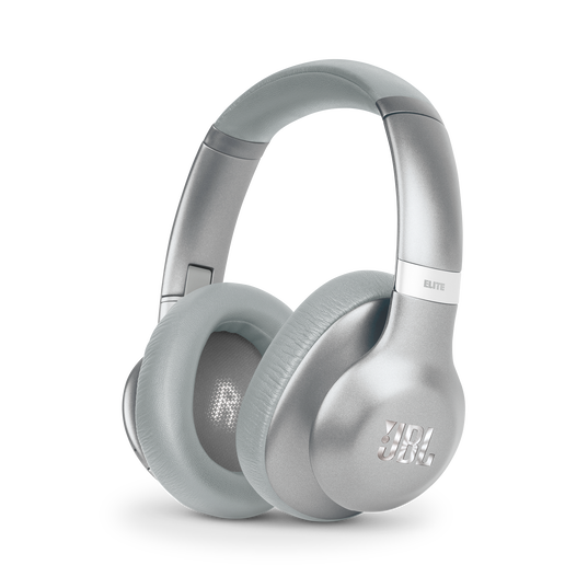 JBL EVEREST™ ELITE 750NC - Silver - Wireless Over-Ear Adaptive Noise Cancelling headphones - Hero