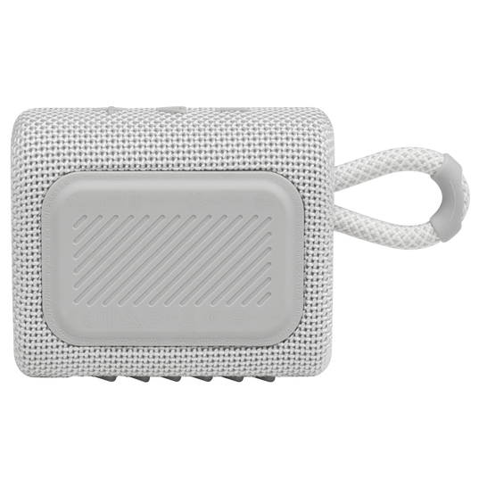 JBL GO 3 - White - Portable Waterproof Speaker - Back