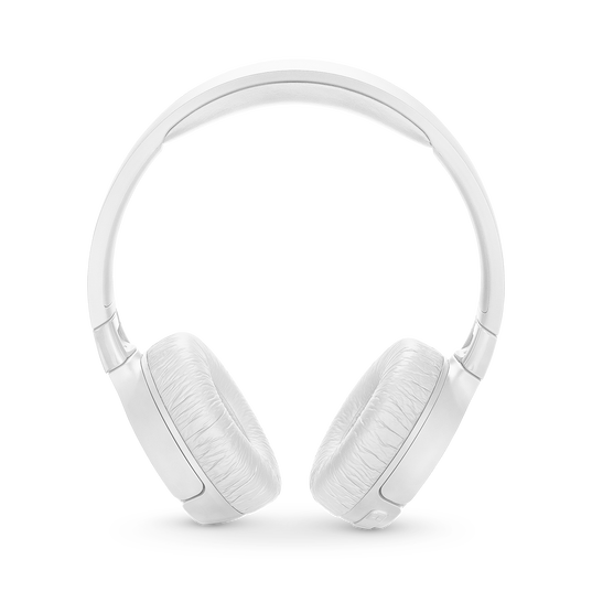 JBL TUNE 600BTNC - White - Wireless, on-ear, active noise-cancelling headphones. - Front
