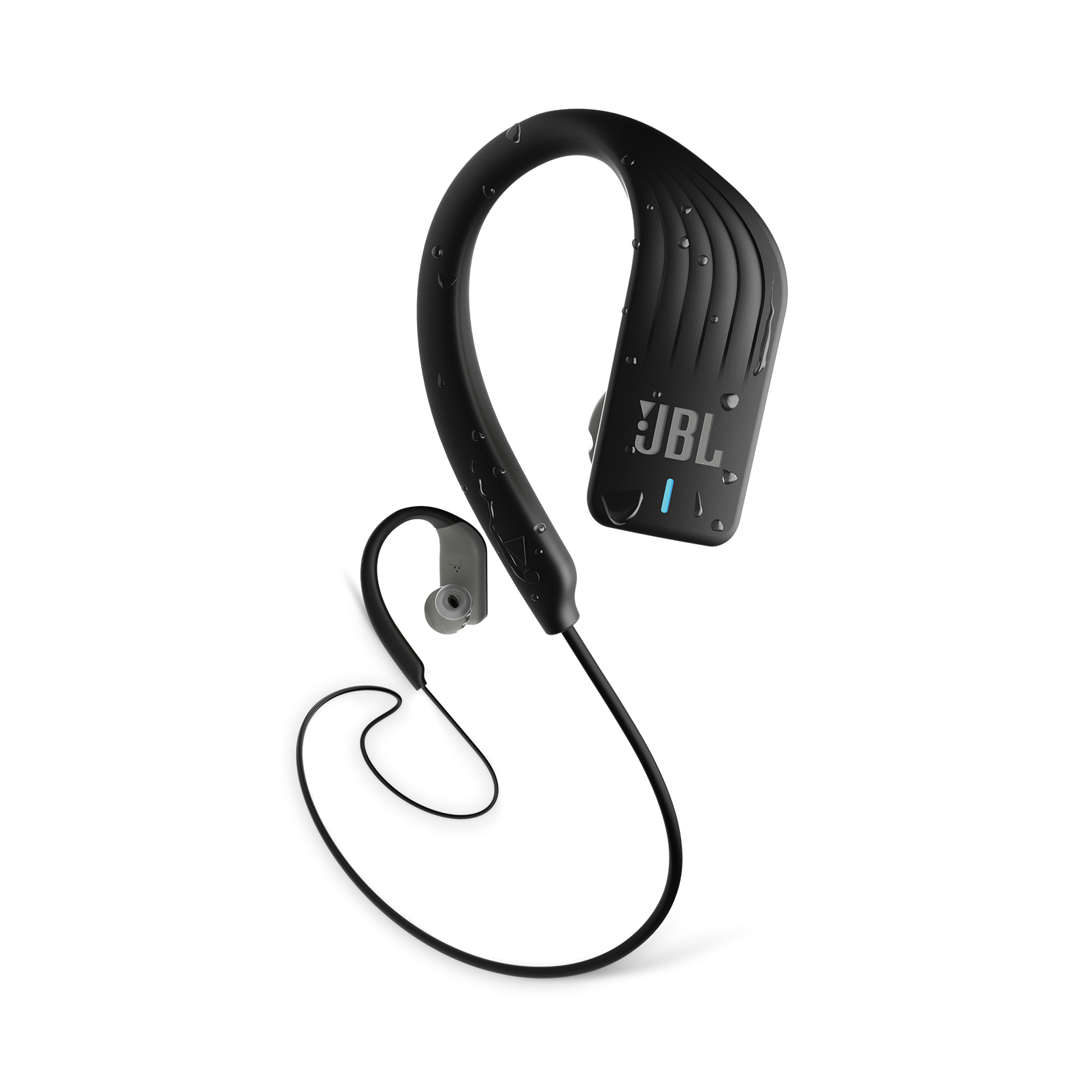 JBL Endurance SPRINT - Black - Waterproof Wireless In-Ear Sport Headphones - Hero