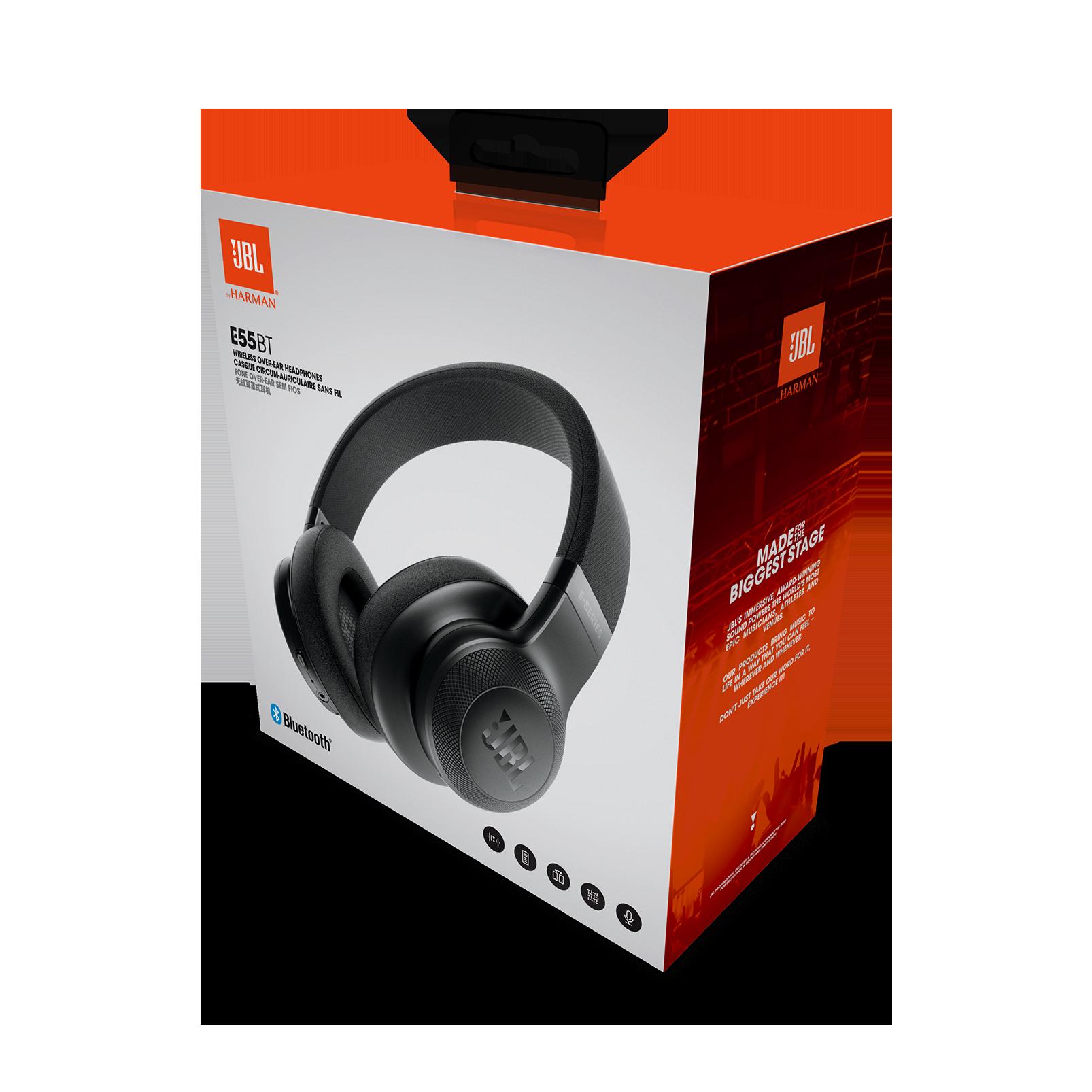JBL E55BT   Wireless over ear headphones